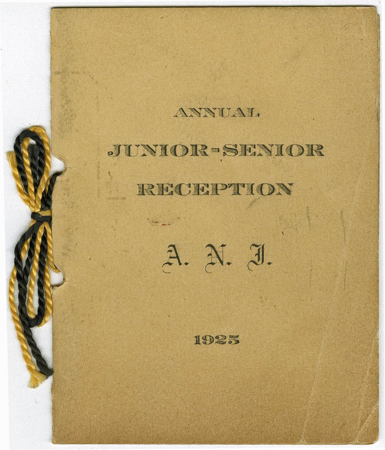 Program for the Annual Junior-Senior Reception