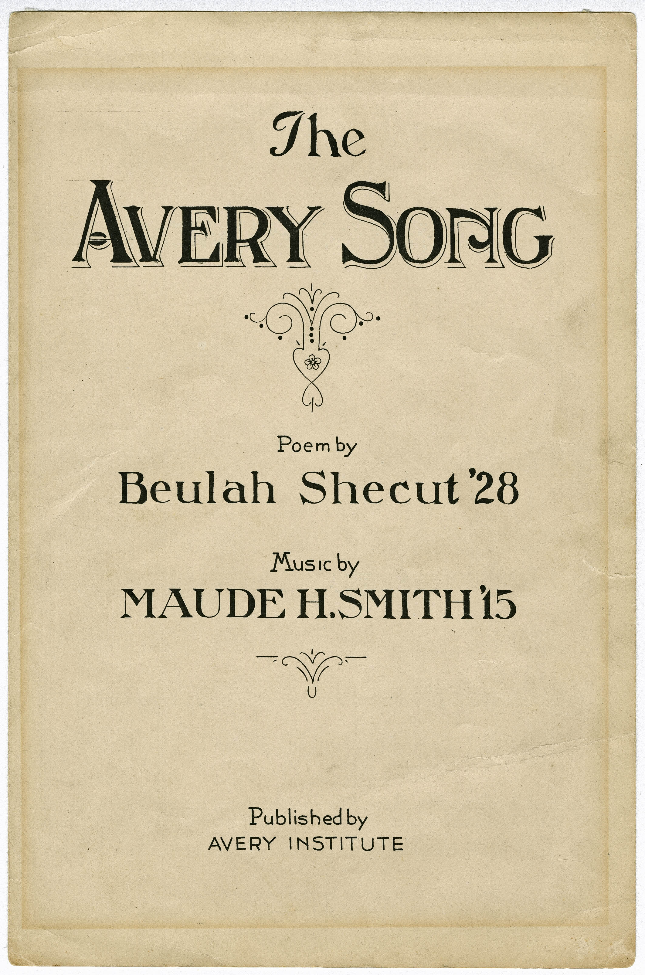 Sheet Music for The Avery Song