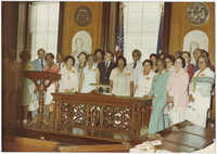 Avery Class of 1932 in City Chambers with Mayor