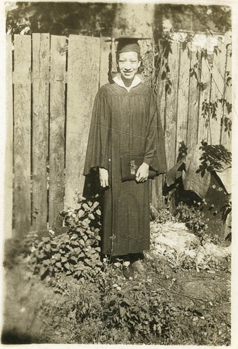 Female Avery Graduate in Cap and Gown