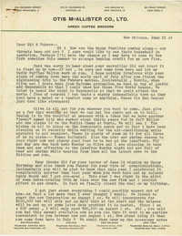 Letter from Armant Legendre, June 21, 1947