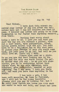 Letter from Gertrude Sanford Legendre, August 5, 1943