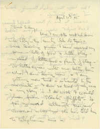 Letter from Gertrude Sanford Legendre, April 30, 1945