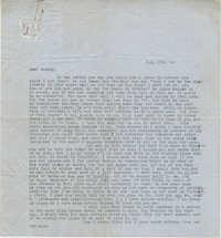 Letter from Gertrude Sanford Legendre, July 17, 1944