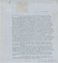Letter from Gertrude Sanford Legendre, July 18, 1944