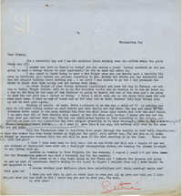 Letter from Gertrude Sanford Legendre, November 26, 1942