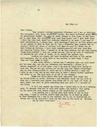 Letter from Gertrude Sanford Legendre, November 18, 1942