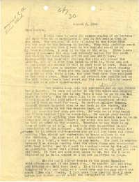 Letter 1 from Sidney Jennings Legendre, August 2, 1943