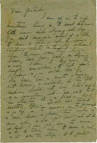 Undated Letter from Jane Sanford Pansa