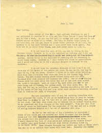 Letter from Sidney Jennings Legendre, July 1, 1943