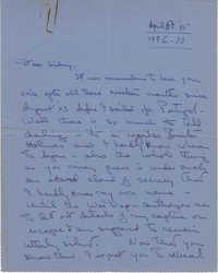 Letter from Gertrude Sanford Legendre, April 6, 1945