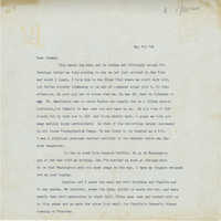 Letter from Gertrude Sanford Legendre, May 7, 1945