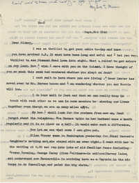 Letter from Gertrude Sanford Legendre, September 3, 1942