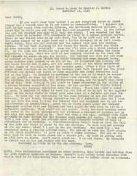 Letter from Henry B. Keep, November 22, 1943