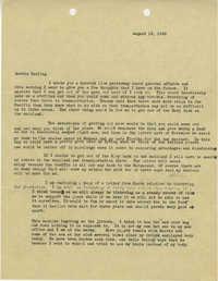 Letter 1 from Sidney Jennings Legendre, August 18, 1945