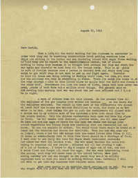 Letter from Sidney Jennings Legendre, August 25, 1945