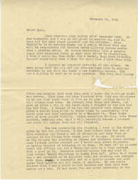 Letter from Sidney Jennings Legendre, December 26, 1942