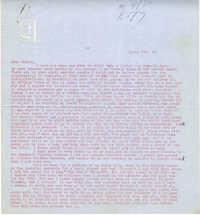 Letter from Gertrude Sanford Legendre, April 29, 1943