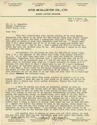 Letter from Armant Legendre, July 1, 1947