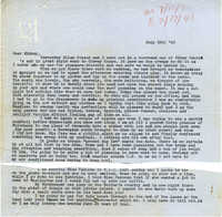 Letter from Gertrude Sanford Legendre, July 12, 1943