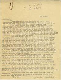 Letter from Gertrude Sanford Legendre, February 18, 1944