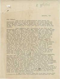 Letter from Gertrude Sanford Legendre, March 24, 1944