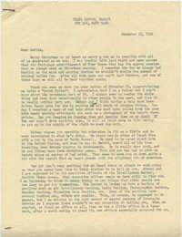 Letter from Morris Legendre