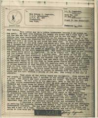 Letter from Sidney Jennings Legendre, February 4, 1944