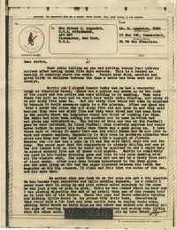 Letter from Sidney Jennings Legendre, December 1943