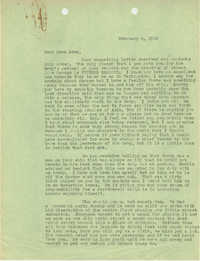 Letter from Sidney Jennings Legendre, February 6, 1945