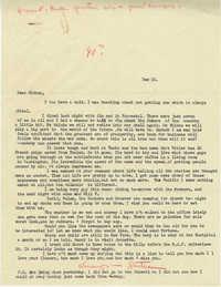 Letter from Gertrude Sanford Legendre, December 10, 1942