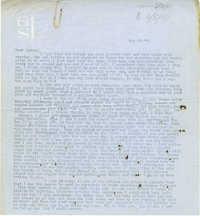 Letter from Gertrude Sanford Legendre, May 29, 1943