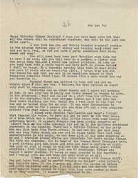 Letter from Gertrude Sanford Legendre, November 1, 1943