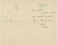 Undated Letter from 'Gwyn'