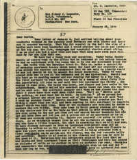 Letter from Sidney Jennings Legendre, January 23, 1944