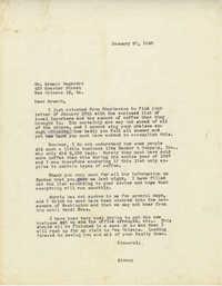 Letter from Sidney Jennings Legendre, January 20, 1948