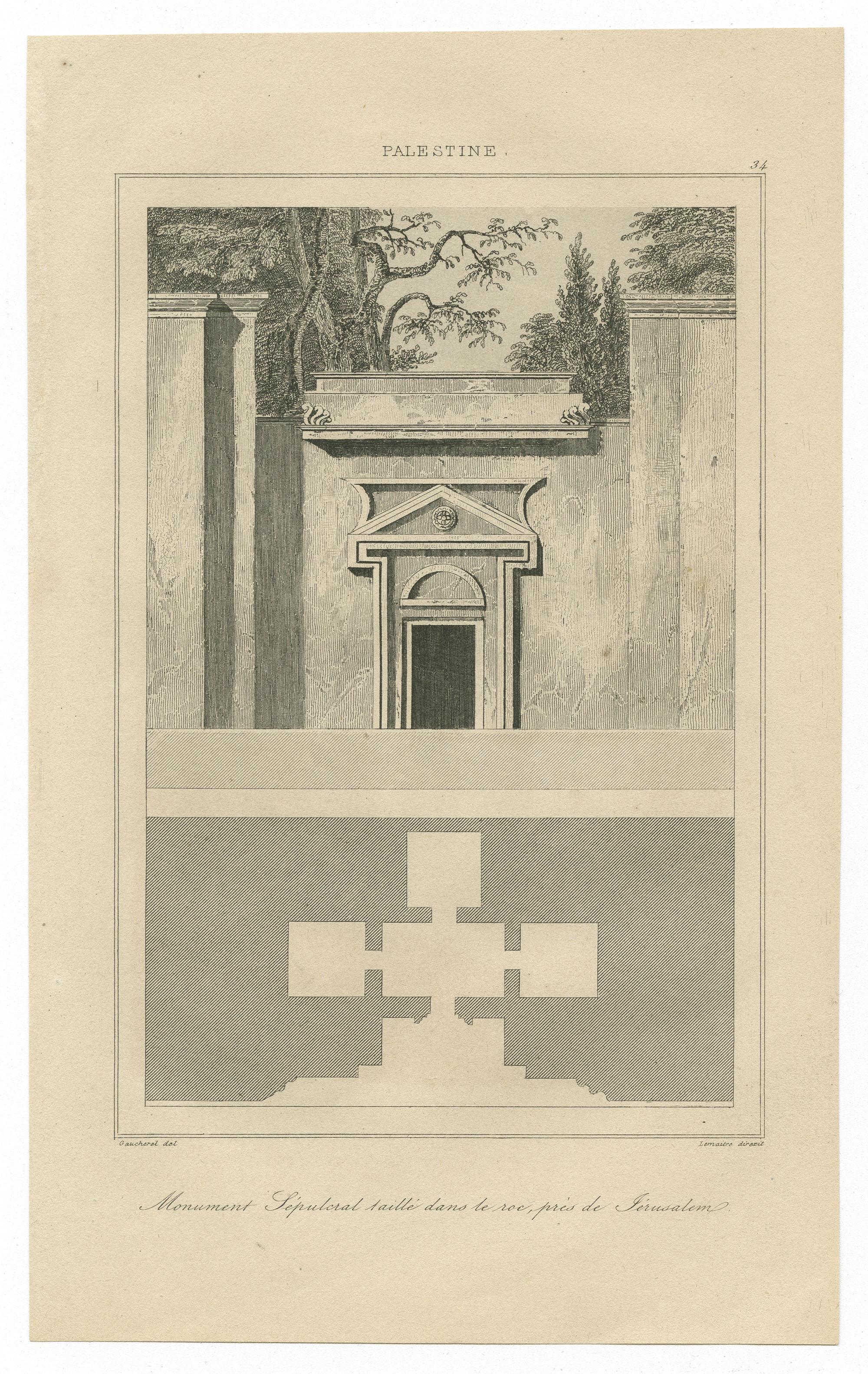 Monument Sepulcral taillé dans le roc, prés de Jerusalem