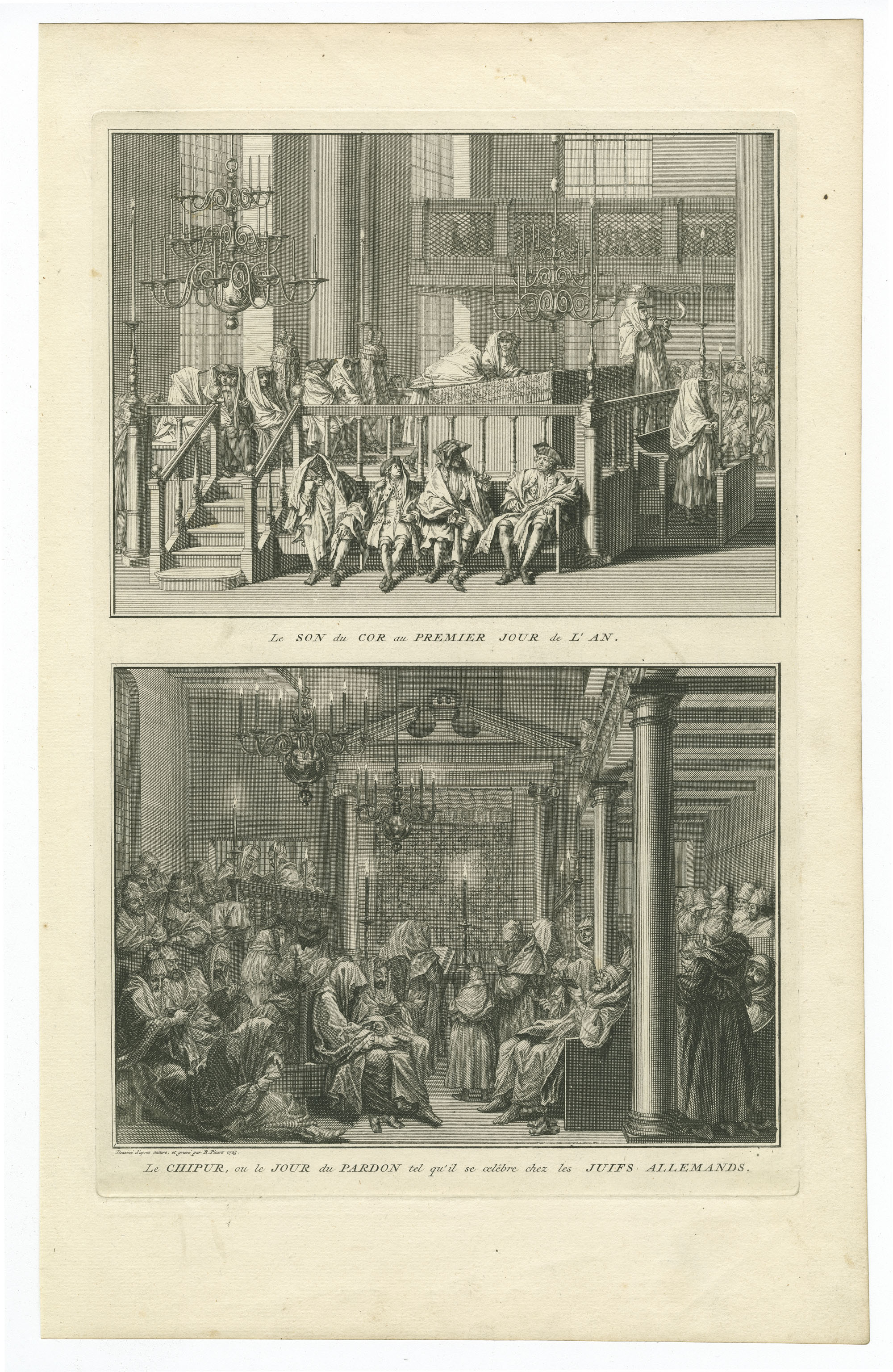 Le Son du Cor au Premier Jour de l'An / Le Chipur, ou le Jour du Pardon tel qu'il se celêbre chez les Juifs Allemands