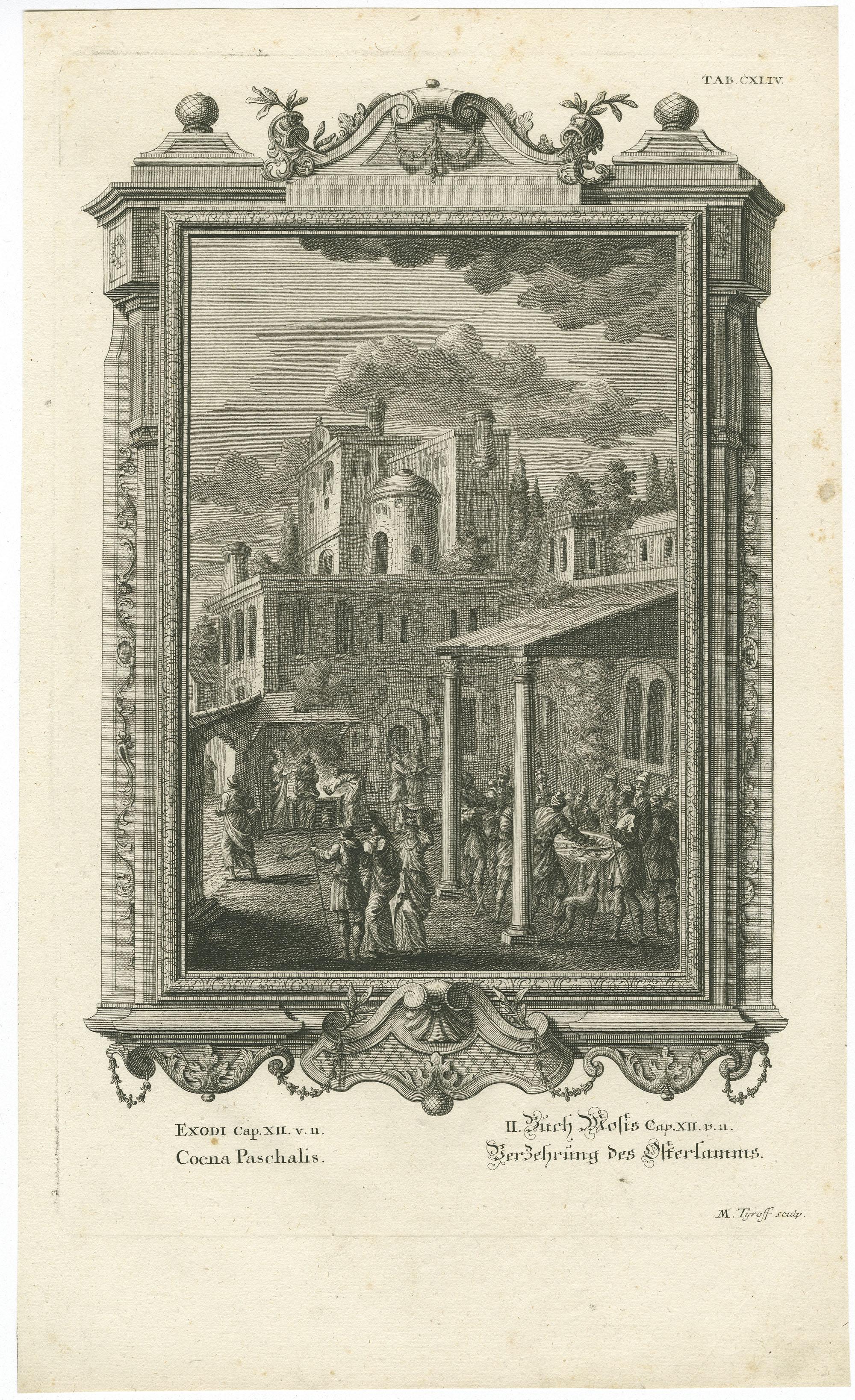 Exodi Cap. XII. v. 11 Coena Paschalis / II. Buch Mosis Cap. XII. v. 11 Verzehrung des Osterlamms