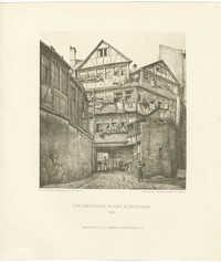 Hinterhäuser in der Judengasse. 1872.