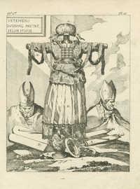 [Ce trophée réunit à plusieurs attributs du grand sacerdoce, les principales pieces de l'ajustement du souverain Pontife, telles que Dieu les avoit ordonnées à Moyse…]