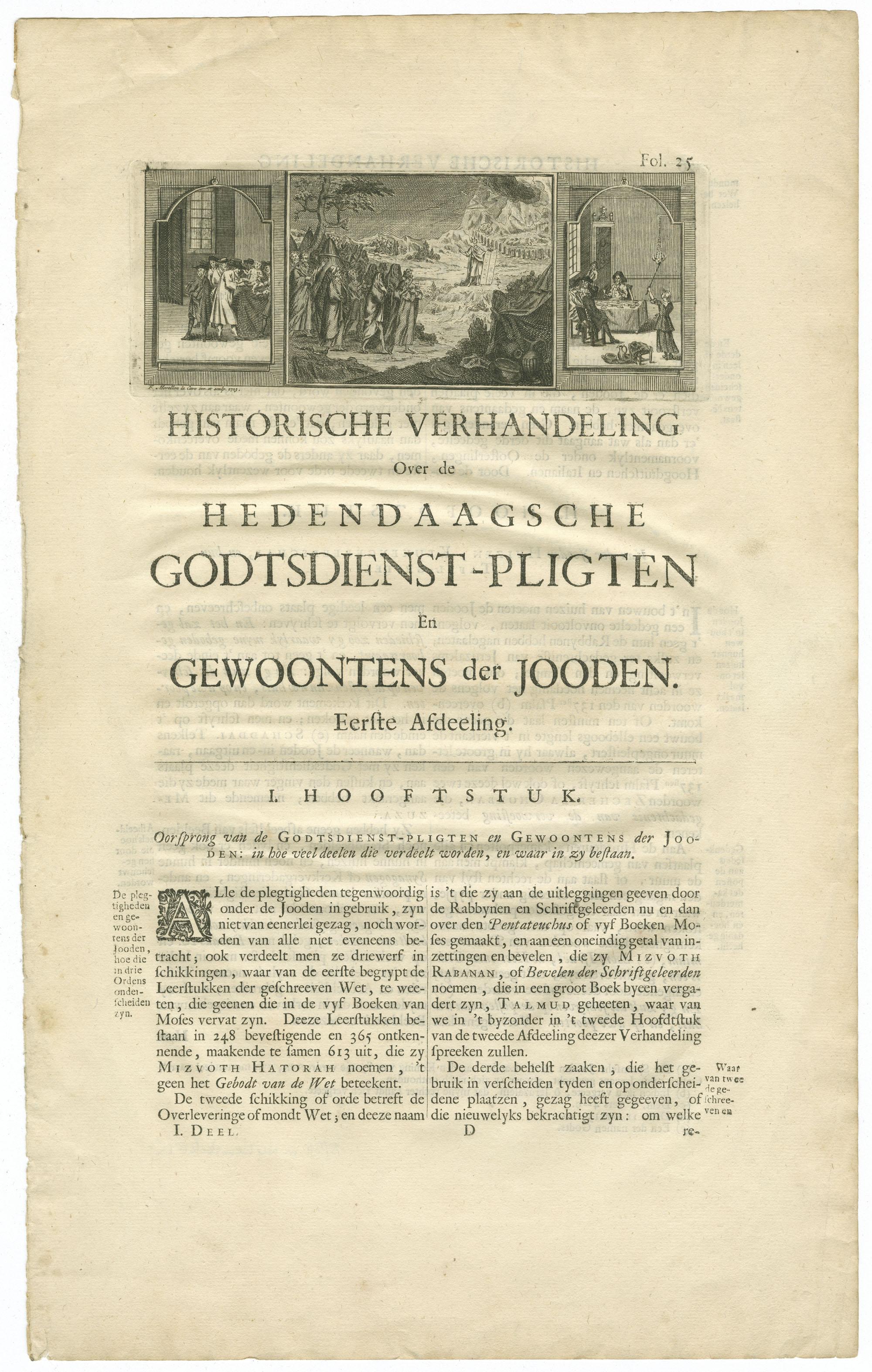 Historische verhandeling Over de hedendaagsche godtsdienst-pligten En gewoontens der jooden