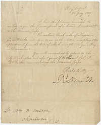 Letter to Lieutenant William D. Wilson  from the Navy granting a commission of Second Lieutenant in the Marine Corps, January 26, 1809