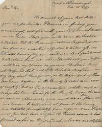 Letter from John F. Grimke to John Paul Grime, February 26, 1779