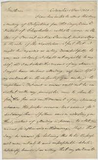 Letter from Thomas S. Grimke refusing to cast ballot for President, December 1828