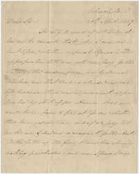 Letter to Alexander Sherse from Thomas Grimke, April 20, 1827