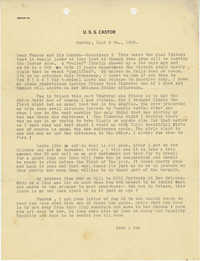 Letter from Armant Legendre, September 9, 1945