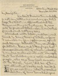 Letter from Charlie Baskerville, December 25, 1944