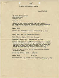 Letter from F. O. Biven, August 9, 1945