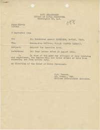 Letter from Armant Legendre, September 9, 1944